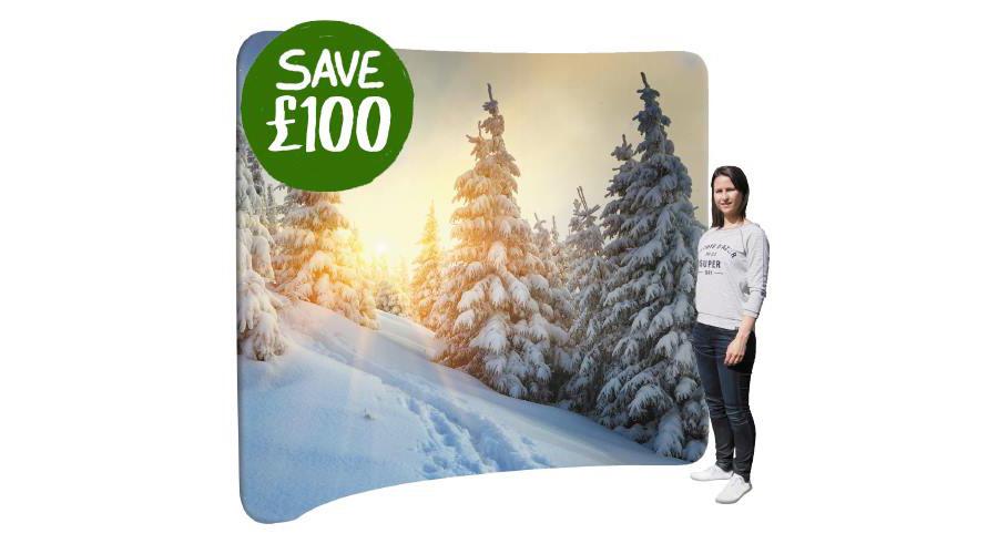 January Sale! £100 off a 'Curve 30' Fabric Display